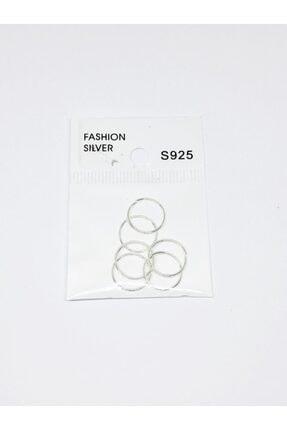 Jaida Moda Kadın 925 Ayar Gümüş Halka Hızma Set 6 Adet