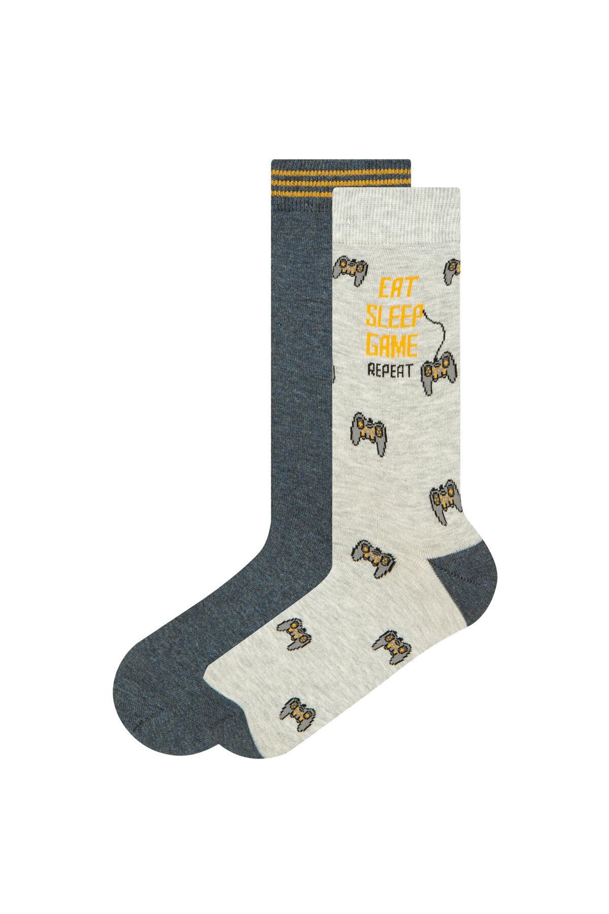 Penti Çok renkli Erkek Game 2Li Soket Çorap