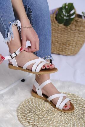 Oksit Kadın Beyaz Welma Sandalet
