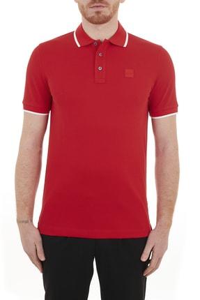 Hugo Boss Erkek Polo Regular Fit Pamuklu Düğmeli Polo T Shirt 50451167 628