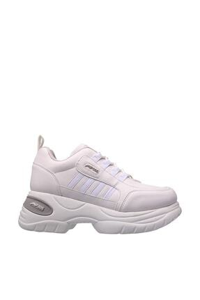 MP Kadın Beyaz Bağcıklı  Spor Ayakkabı