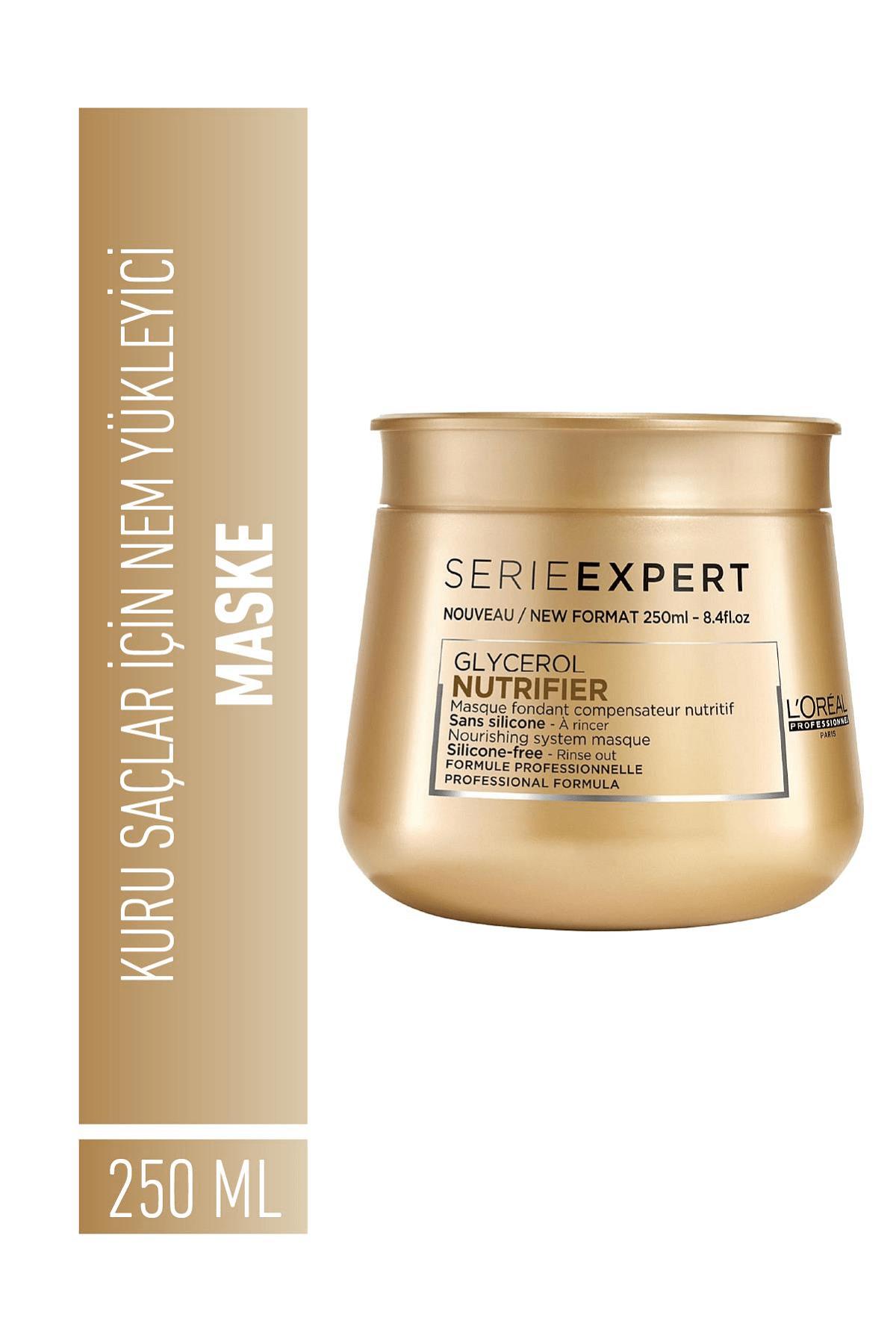 L'oreal Professionnel Serie Expert Nutrifier Kuru Saçlar için Nem Yükleyici Maske 250 ml 1