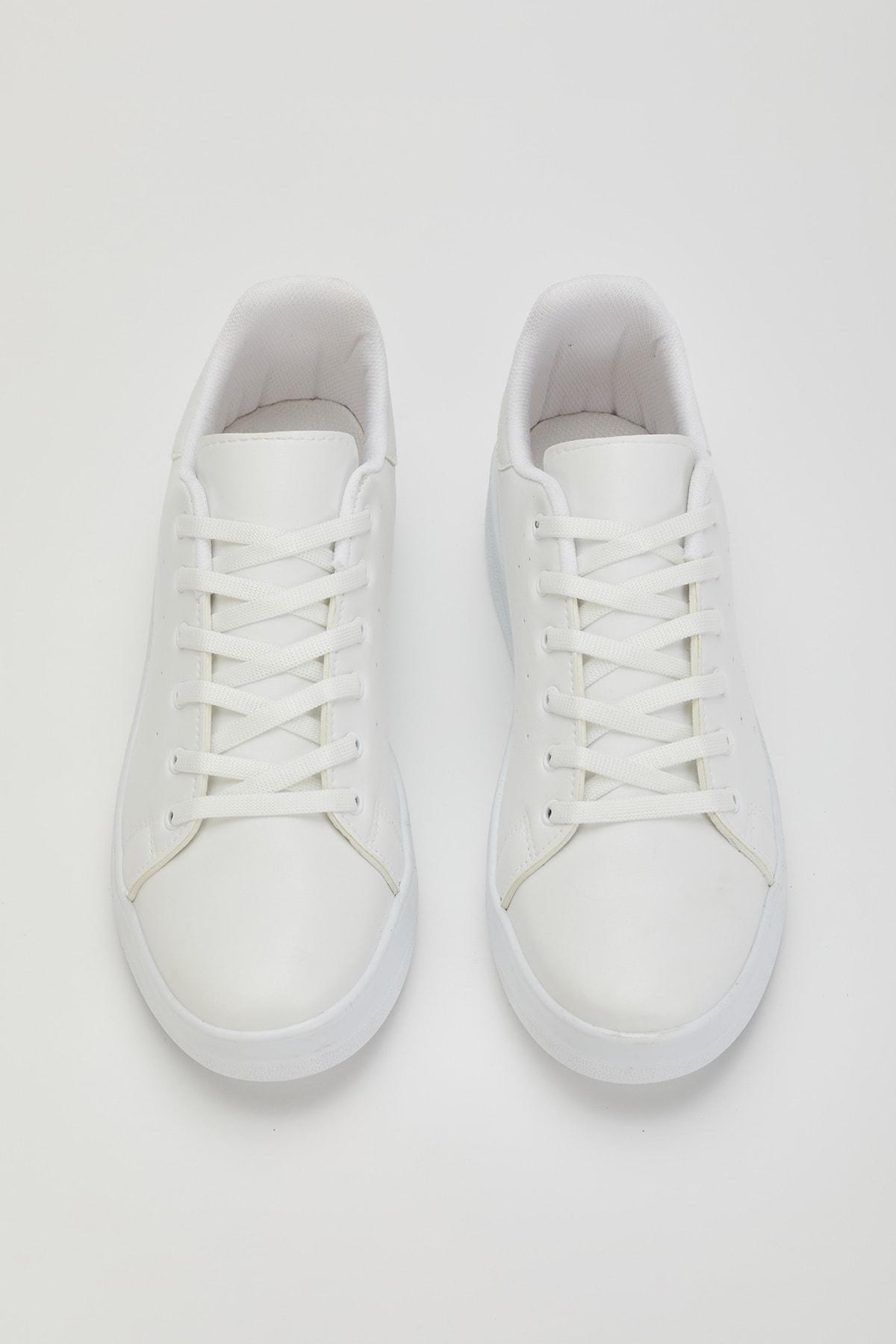 MUGGO Unisex Beyaz Sneaker Ayakkabı Svt21 2