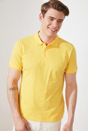 TRENDYOL MAN Sarı Erkek Slim Fit Polo Yaka Kısa Kollu Polo Yaka T-shirt TMNSS20PO0009