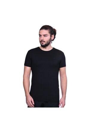 Lotto Erkek Siyah Pamuklu  T-shirt