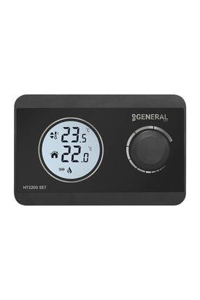 GENERAL Life Set Kablosuz Dijital Oda Termostatı Ht220s - Siyah