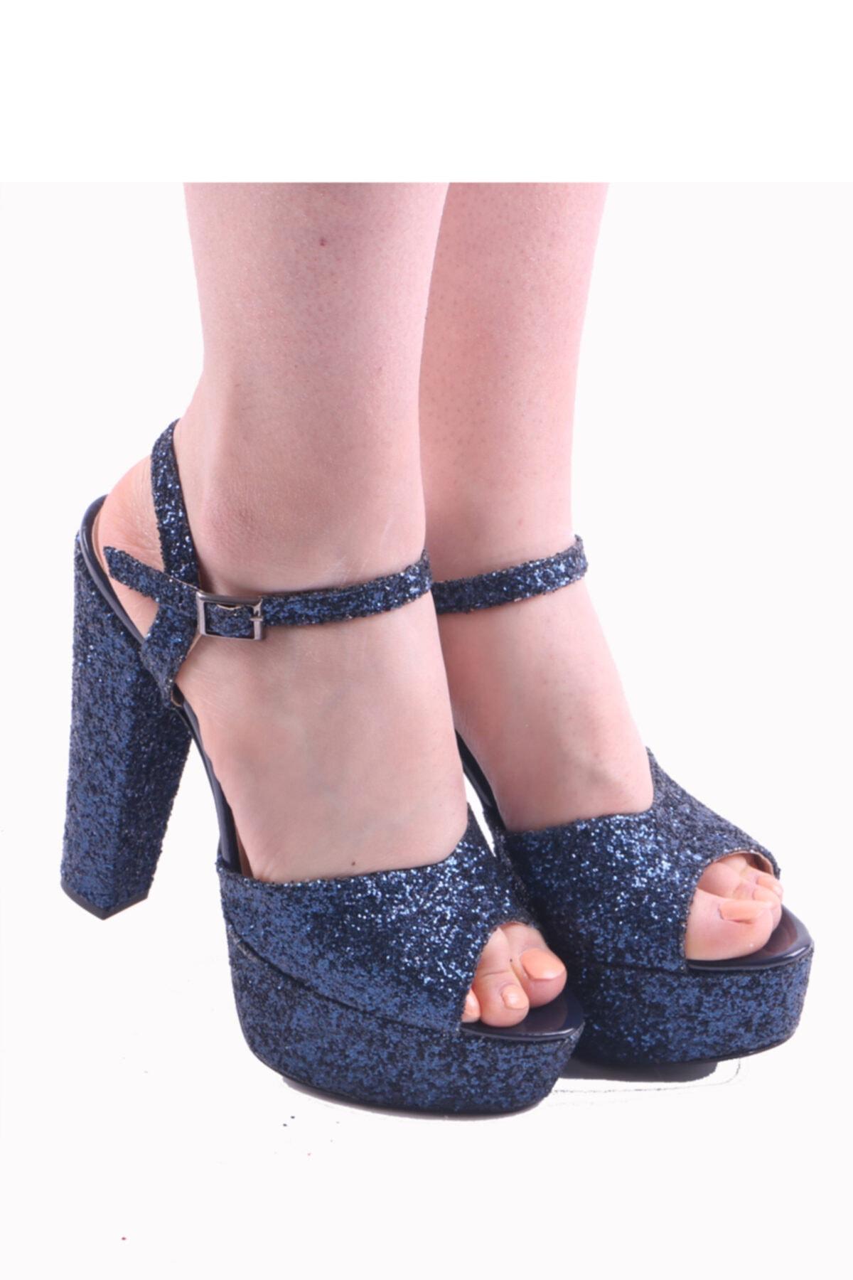 RUBRICA Kadın Lacivert Abiye Ayakkabı 2