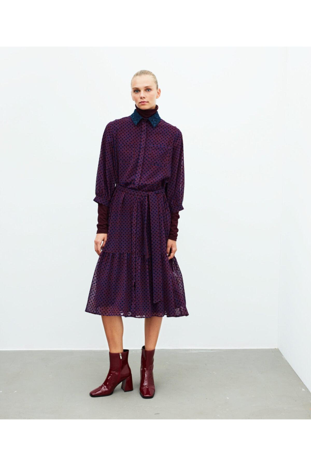 İpekyol Puantiye Desen Tül Elbise 2