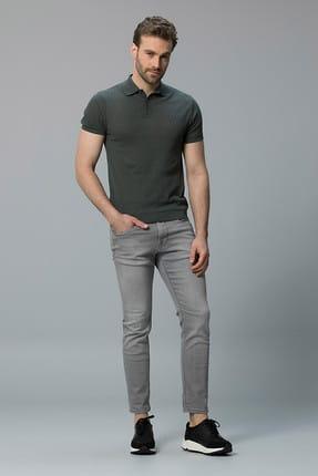 Lufian Erkek Slim Fit Naldo Smart Jean Pantolon Açik Gri 111200020100180