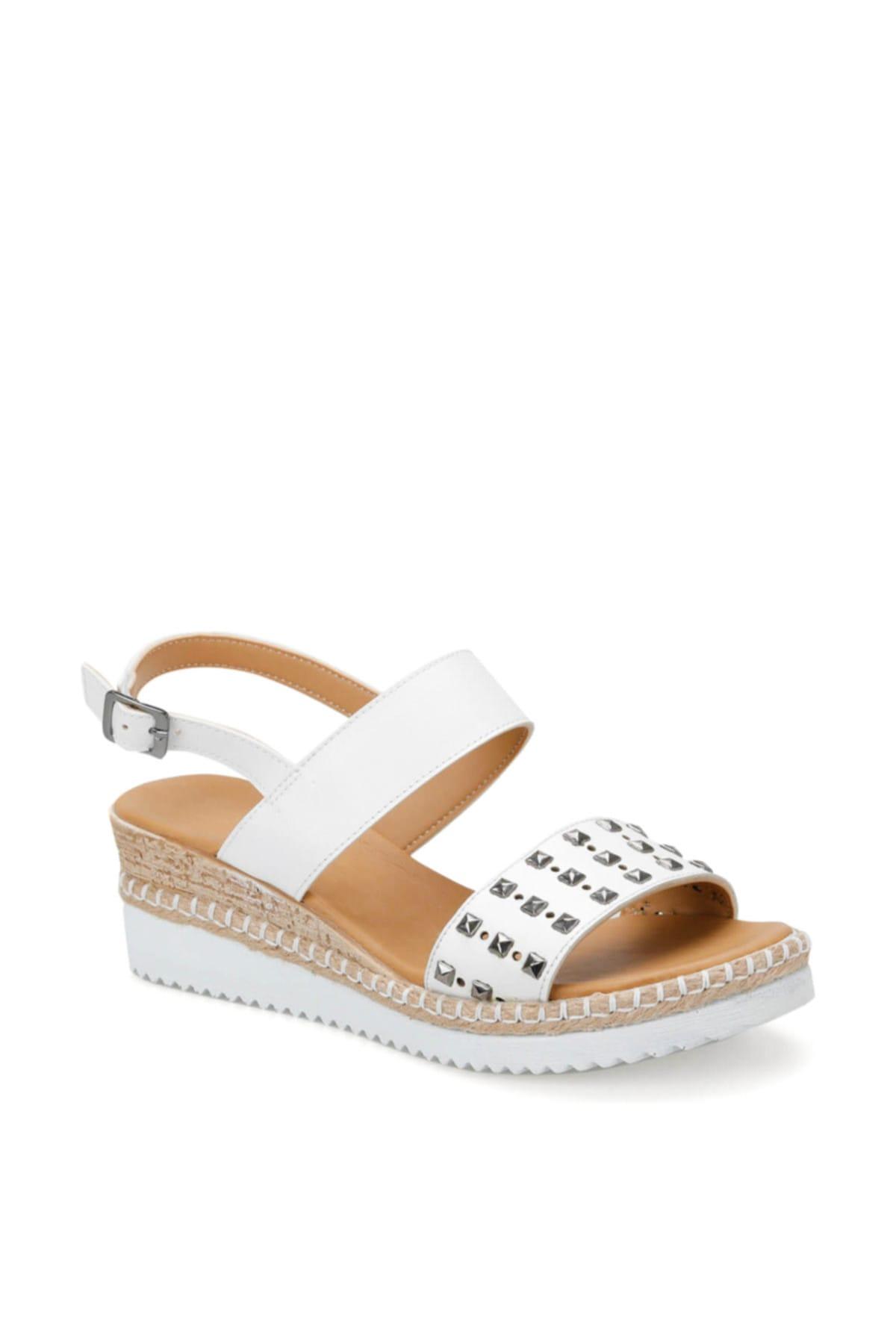 ART BELLA Cs19132 Beyaz Kadın Sandalet 100382775 1