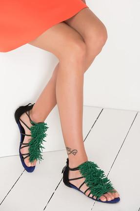 Derimod Yeşil Kadın Sandalet
