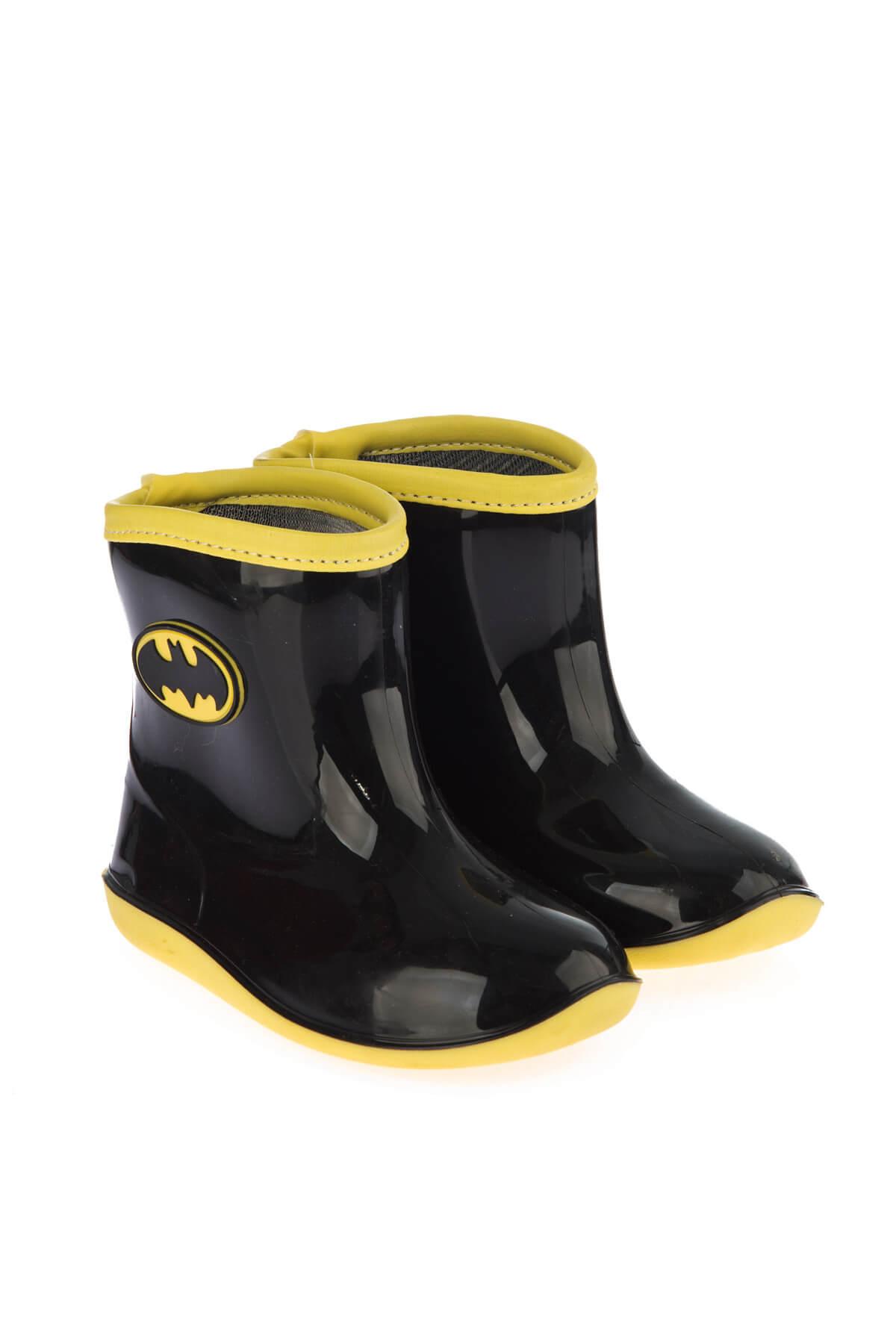 Batman 97246 Siyah Sarı Erkek Çocuk Yağmur Çizmesi 100394279 2