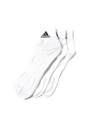 adidas Unisex Beyaz Antrenman Çorabı Aa2320 Ankle 3lü