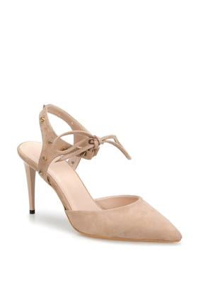 Miss F Ds19069 Bej Kadın Topuklu Ayakkabı 100382316