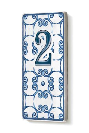 The Mia Kapı Numarası Mavi Beyaz 2