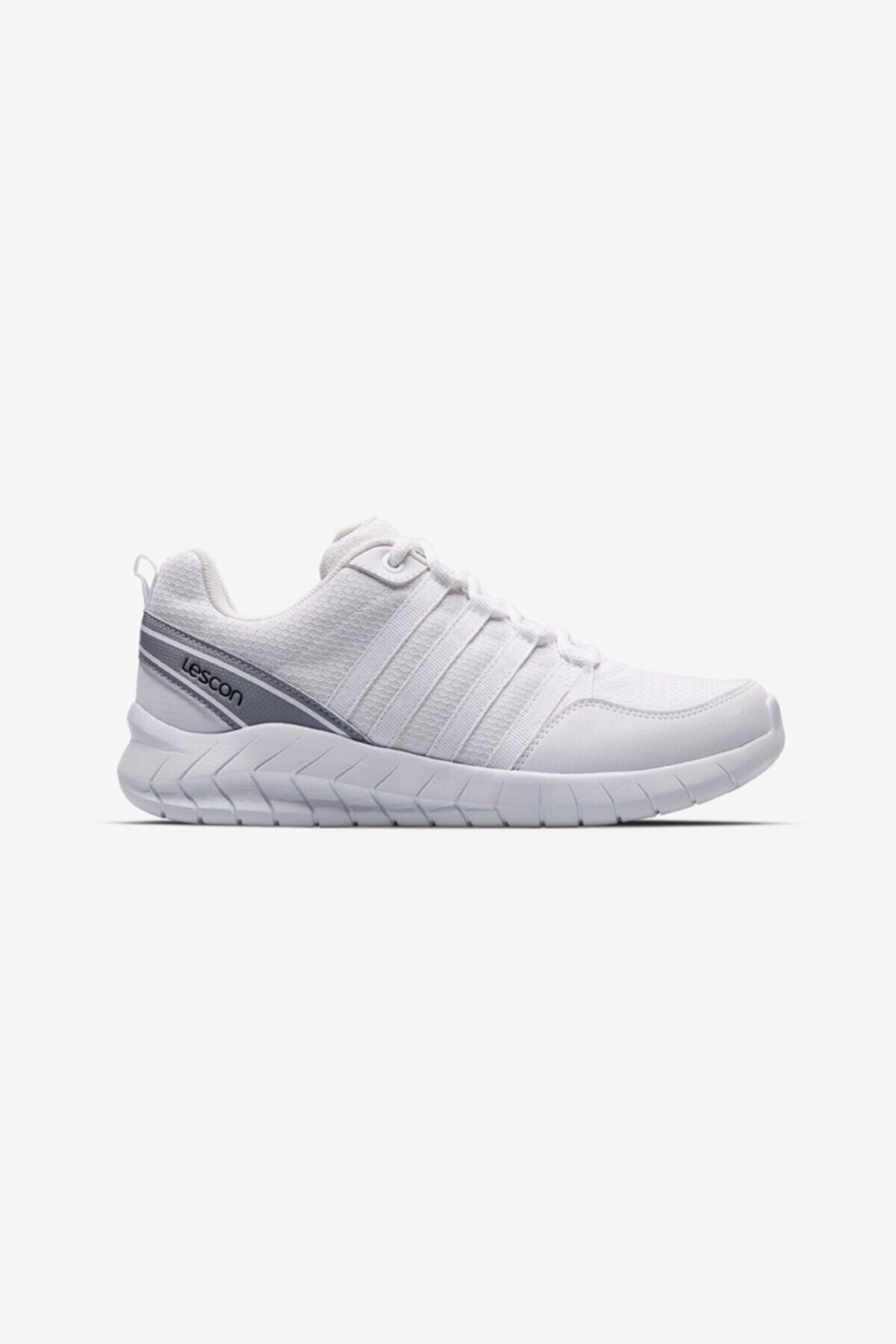 Lescon Unisex Beyaz Bağcıklı Flex Legend Sneaker Ayakkabı 1