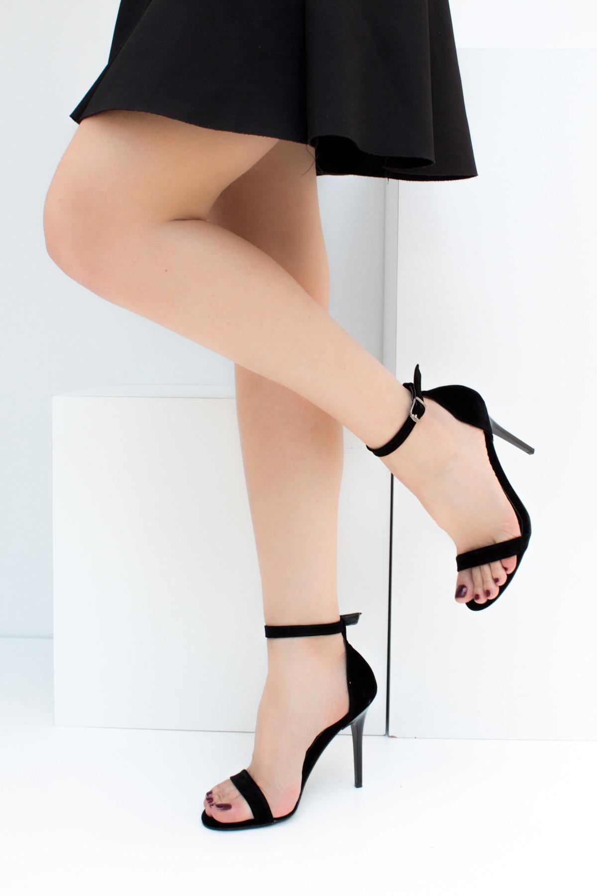 Fox Shoes Siyah Kadın Topuklu Ayakkabı B922112602 1