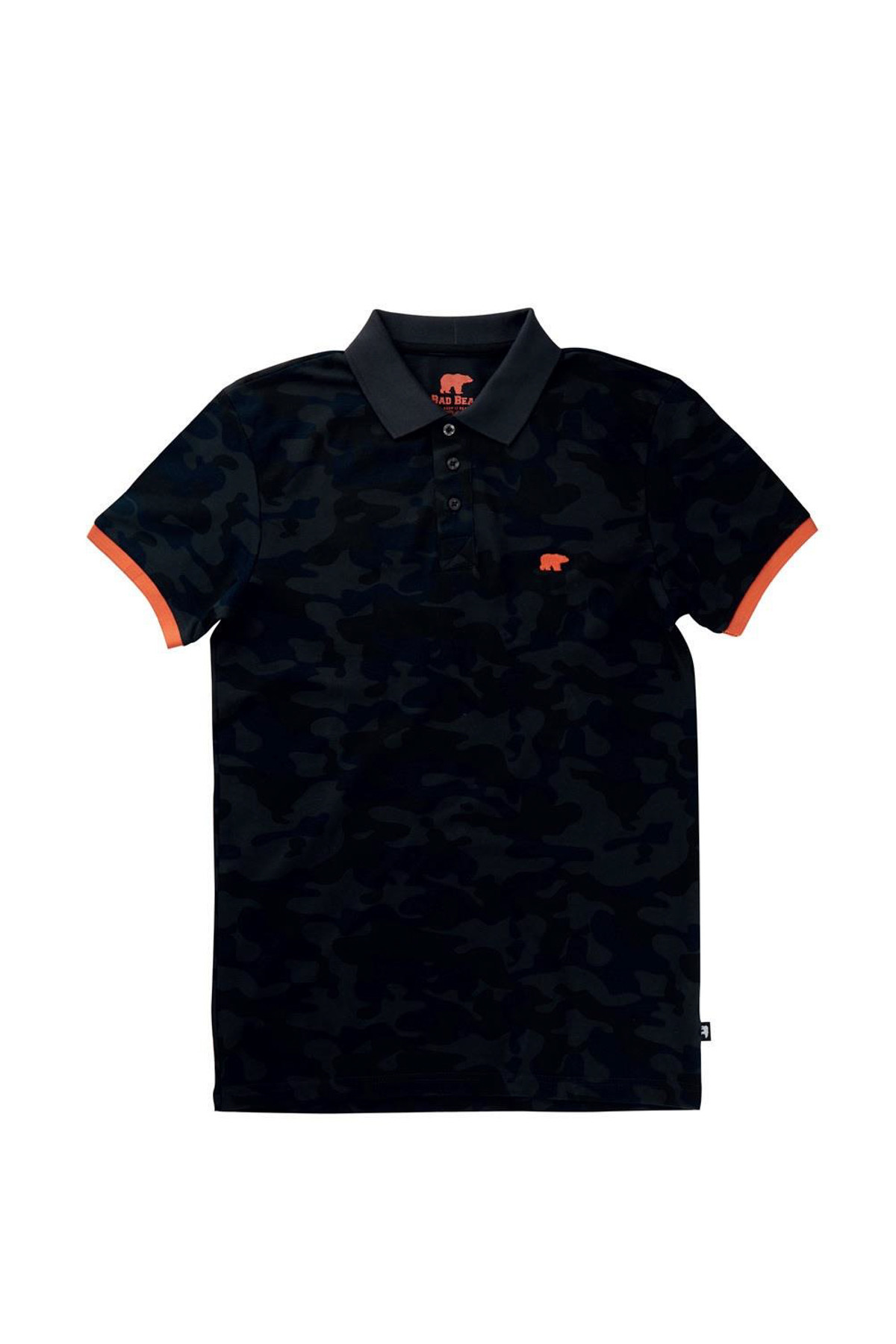 Bad Bear CAMO PIQUE POLO RAVEN 1
