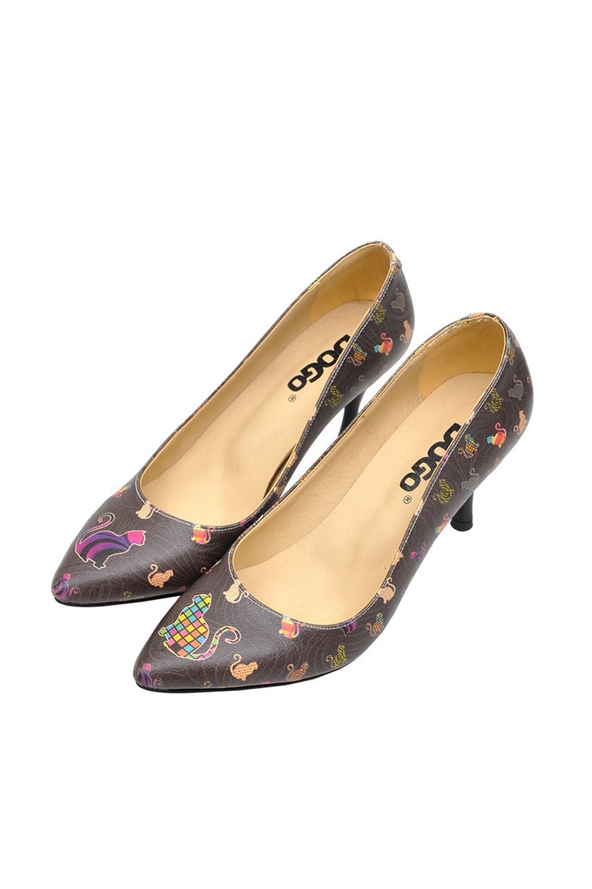 Dogo Çok Renkli Kadın Topuklu Ayakkabı DGHH016-STL005 2