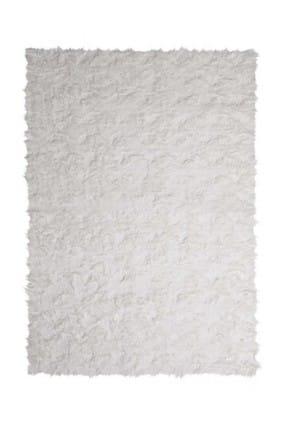 Prizma 75 x 150 Prizma Micropost Özel Ebat Kesme Kaymaz İnce Yolluk ve Halı Beyaz Beyaz-75x150