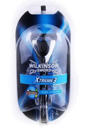Wilkinson Xtreme 3 - Oynar Başlıklı Sistem Tıraş Bıçağı + 2 Yedek