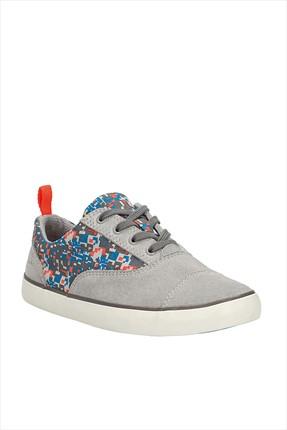 CLARKS Hakiki Deri Gri Çocuk Ayakkabı 261050807