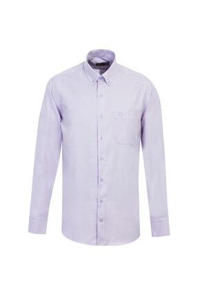 Kiğılı Uzun Kol Regular Fit Oxford Gömlek