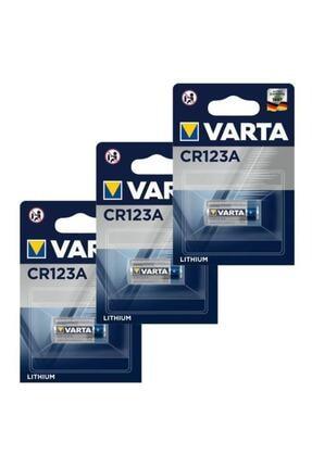 TNL 3 Adet Varta Cr123a 3v Lityum Pil