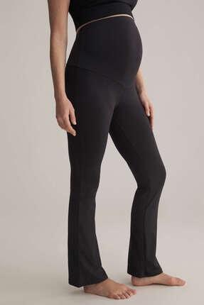 Oysho Kadın Siyah Comfort Flare Maternity Pantolon