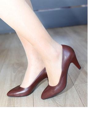 PUNTO Kadın  Bordo Topuklu Ayakkabı