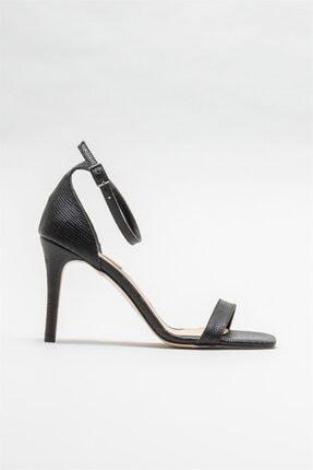 Elle Shoes Siyah Kadın Topuklu Sandalet