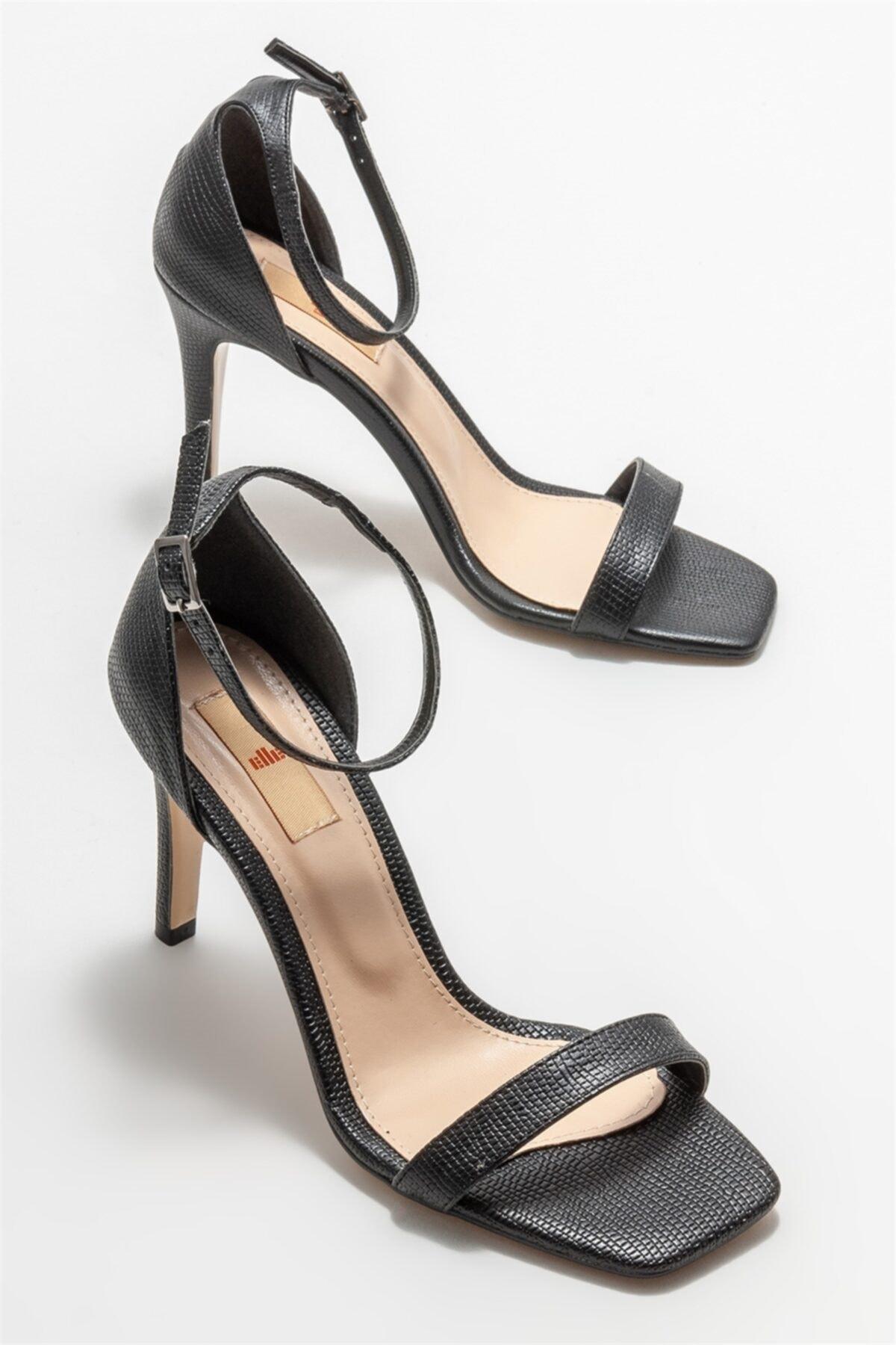 Elle Shoes Siyah Kadın Topuklu Sandalet 2