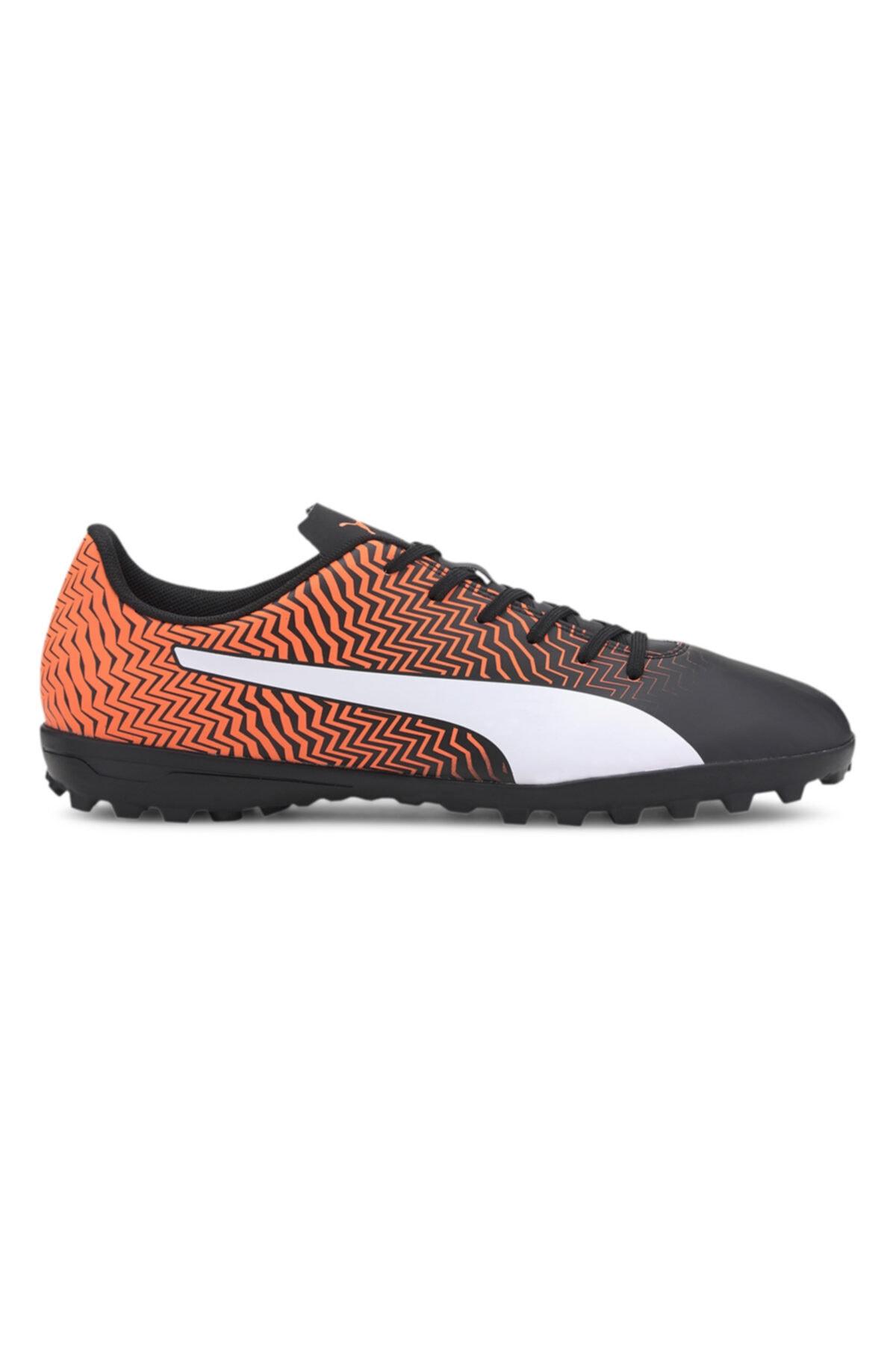 Puma Erkek Siyah Turuncu Halı Saha Ayakkabısı 1
