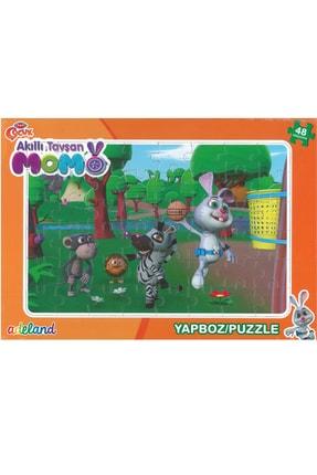 ADELAND Trt Çocuk Akıllı Tavşan Momo 48 Parça Prame Puzzle(24x34cm)