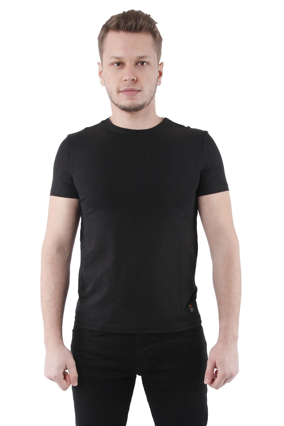 Canelia Siyah Erkek Slimfit T-shirt 1