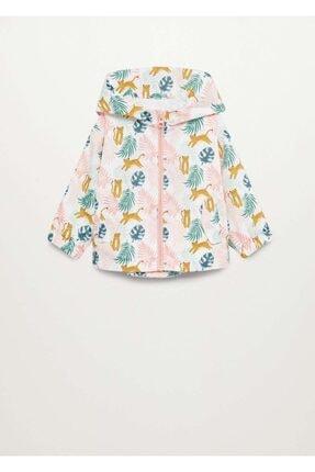 MANGO Baby Desenli Kapüşonlu Ceket