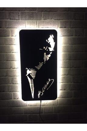 Alfanua Atatürk Duvar Dekorasyonu - Ataturk Portresi Işıklı Duvar Tablosu