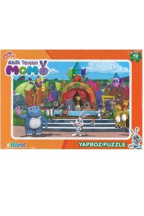 ADELAND Trt Çocuk Akıllı Tavşan Momo 48 Parça Prame Puzzle3 (24x34cm)