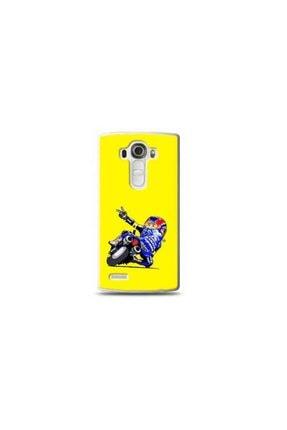 Ren Geyik Lg G4 Mini Motorcu Sarı Koleksiyon Telefon Kılıfı Y-srklf094