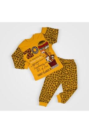 Gubi Kids Bebek Pijama Takımı %100 Pamuklu Zürafa Baskılı