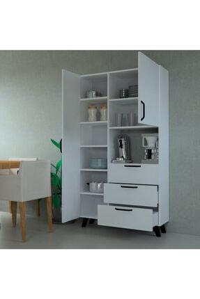MOBİLİQUE Çok Amaçlı Mutfak Mikrodalga Fırın Dolabı Beyaz