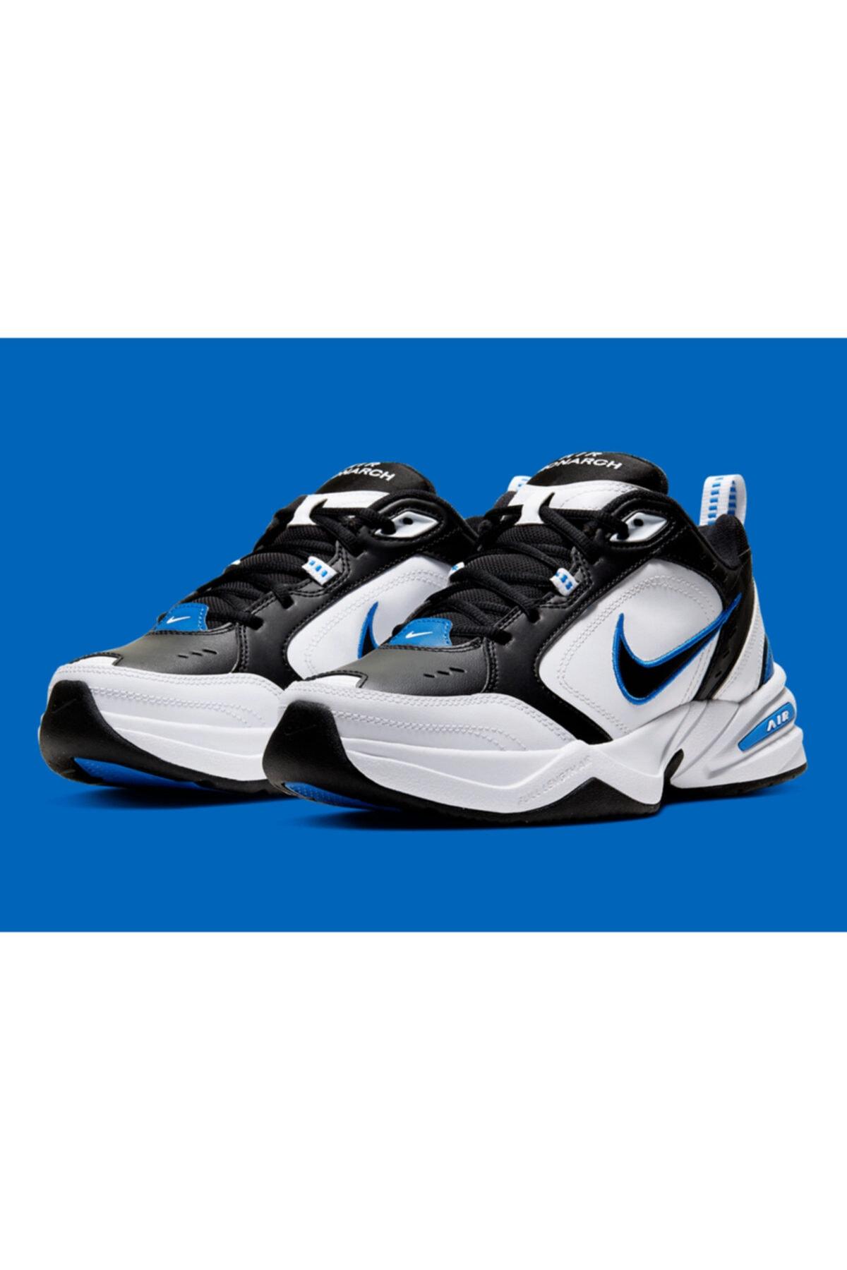 Nike Air Monarch Iv 4 Siyah Beyaz Mavi Retro Unisex Sneaker Ayakkabı 415445-002 1