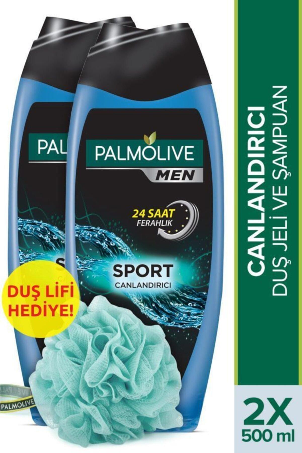 Palmolive Men Sport 3'ü 1 Arada Yüz,vücut Ve Saç Canlandırıcı Duş Jeli 2 X 500 ml + Duş Lifi Hediye 1