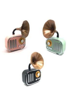 whitetech Nostaljik Mini Dekor Retro Gramofon Bluetooth/fm Radyo Yeşil Hs67