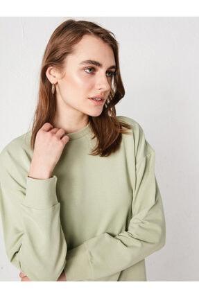 LC Waikiki Kadın Yeşil Sweatshirt