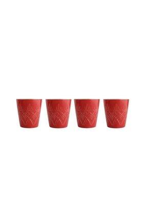 Porland Chrıstına Kırmızı 4'lü Bardak 320cc