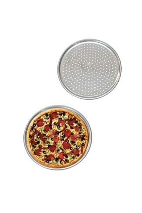 morponi Delikli Pizza Tepsisi Lahmacun Pide Tepsisi 28 Cm 2 Adet