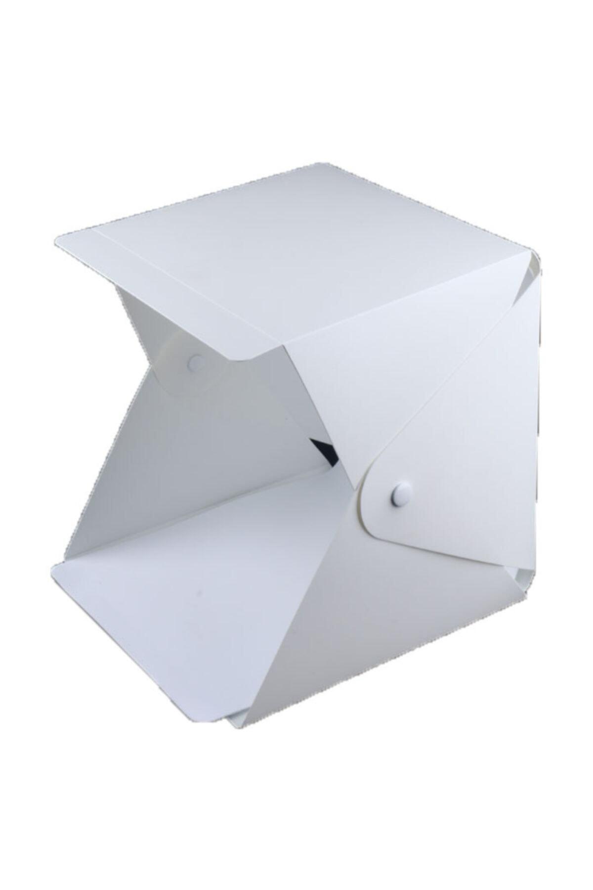 Vision Portatif Işıklı Ürün Fotograf Çekim Çadırı 22.6*23*24cm 2 Fonlu Siyah-beyaz 1