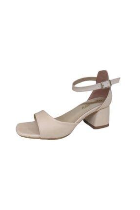 Pandora Kadın Bej Topuklu Ayakkabı Mi041