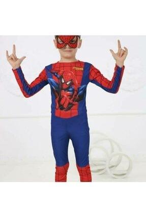 SPIDERMAN Erkek Çocuk Spiderman Kostümü Yeni Örümcek Adam Kostüm Maskeli